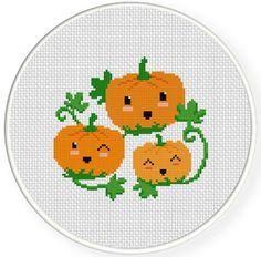 Charts Club Members Only: Happy Pumpkins Cross Stitch Pattern