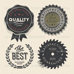 Vintage set premium quality and guarantee labels #design #vector #eps Download: http://depositphotos.com/22163211/stock-illustration-vintage-set-premium-quality-and.html?ref=5747528
