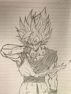 SSJ Goku Battle Damaged Anime Drawings Sketches, Anime Sketch, Ssj2, Fan Art, Goku Drawing, Geniale Tattoos, Dragon Ball Z, Anime Art, Twitter