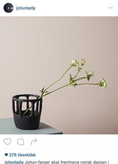 Structure — Norwegian contemporary crafts and design Vigeland by Andreas Engesvik Ceramic Tableware, Ceramic Clay, Kitchenware, Norwegian Design, Color Inspiration, Interior Inspiration, Jotun Lady, Japanese Home Decor, Black Vase