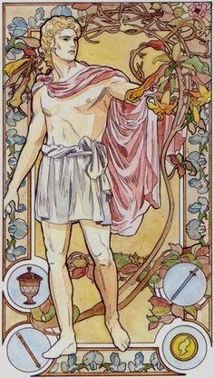 The Magician - Art Nouveau Tarot