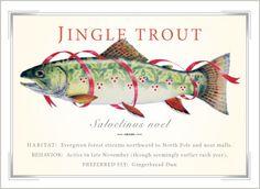Random Christmas Trout #3 (via Hybrid Arts | Jingle Trout Christmas Card Set) - Manhattan Usual