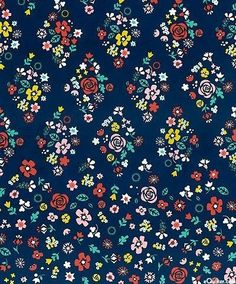 Bohemian Festival Blue by Riley Blake Fabrics-Fabric by the Yard,Girls Floral Fabric,BlueFloral,Whimsical Flowers,Quilt,Crafts,Sewing