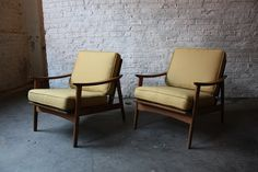 Walnut Danish Modern Lounge Chairs