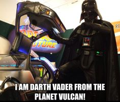"""I am #Darth_Vader from the planet Vulcan"" #Star_Wars #Back_To_The_Future"