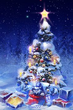 Christmas tree Mobile Screensavers available for free download.