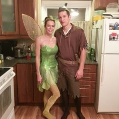 Pin for Later: 50+ Adorable Disney Couples Costumes Tinker Bell and Peter Pan