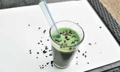 A healthy Shamrock Shake. I've never had a Shamrock Shake... but if I were going to have one, I'd make this.