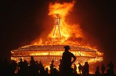 The Man burns during the Burning Man 2013 arts and music festival in the Black Rock Desert of Nevada, August (photo by Jim Urquhart) Wesley Clark, Music Festival List, Georges Clemenceau, Burning Man 2015, Nevada Desert, Nevada Usa, Pagan Festivals, Music Festivals, Black Rock Desert