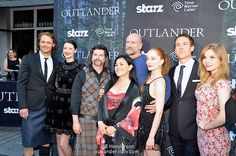 Ron Moore, Diana Gabaldon with Outlander cast