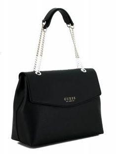 3040521eb518d Überschlagtasche Guess Robyn schwarz Saffiano Kettenhenkel - Bags   more