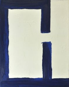 Abstract Painting in Blue and White