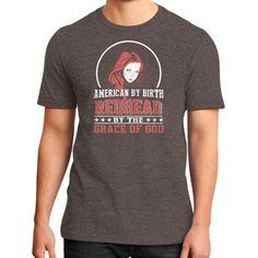 Apparels redhead0 District T-Shirt (on man)