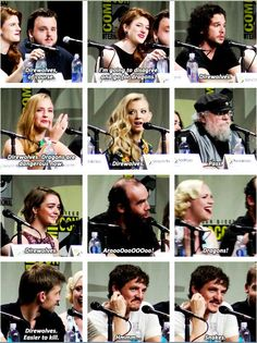 Q: Direwolves or Dragons? [Game of Thrones @ San Diego Comic Con 2014]