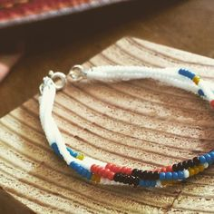 The colors made me think of fall. 3 strand seed bead bracelet with sterling clasp #fallsonitsway #white #turquoise #yellow #orange #black #sterlingsilver #southwestern #western #country #seedbeadjewelry #thisismystory #madewithlove  www.etsy.com/SamanthaStorys