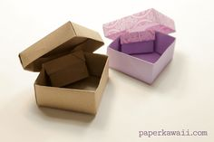 Origami Gem Box & Lid Tutorial & Diagram, I have been fussing around with this origami box for ages, finally made the tutorial and also a diagram this time, hope you like it! This origa... #crystal #gem