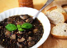 Lentil soup with mushrooms and lemon recipe | Soups
