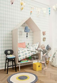 Imaginations runs wild in spaces like these, perfect for the little ones.   Design by FERM LIVING