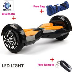 8 inch LED light electric scooter bluetooch bag remote 2 wheels self balance electric skateboard hoverboard