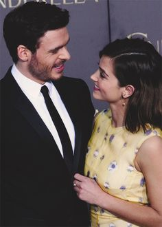 Richard Madden and Jenna Coleman LA Premiere Of Disney's Cinderella