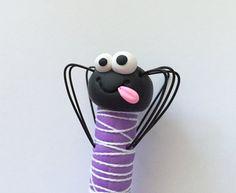 Goofy de Spidey de polímero arcilla bolígrafo por handmademom