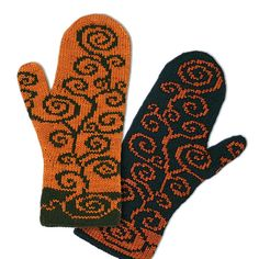 Ravelry: Bile Double knitting mittens / Fäustlinge pattern by Alexandra Wiedmayer