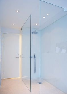 bathroom - walk in shower Small Master Bath, Small Bathroom, Master Bathroom, Bathroom Renos, Bathroom Renovations, Alcove Storage, Wet Rooms, Glass Shower, Walk In Shower