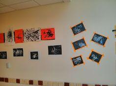 Fall 2013 Art Show @ Sandcastle Preschool; spiderwebs