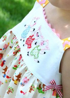 Hand Embroidery {Tutorial}...I am so wanting to do embroidery on a little girlie outfit!