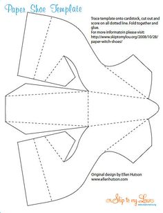 High Heel Paper Shoe Template  Free Printing Template With Blank