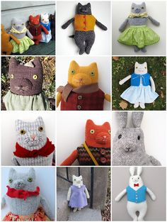 dolls 2009- 9 kitties and 2 bunnies | Flickr - Photo Sharing!