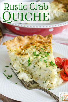 Rustic Crab Quiche is an easy seafood quiche recipe with a pound of lump crabmeat. This easy quiche recipe is great for a special brunch or lunch. Crab Recipes, Quiche Recipes, Egg Recipes, Brunch Recipes, Breakfast Recipes, Cooking Recipes, Healthy Recipes, Breakfast Quiche, Breakfast Bites