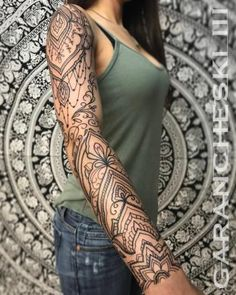 We present you tattoos in this table for your inspiration. We did not create the works presented in this painting but you will find all our creations available on our tattoo designs bank.Ornemental tattoo ideaBailey Jaylynn bailey_jaylyn Tattoos We p Arm Tattoos For Women Forearm, Tribal Forearm Tattoos, Boho Tattoos, Tattoos Arm Mann, Shoulder Tattoos For Women, Sleeve Tattoos For Women, Arm Tattoos For Guys, Feminine Arm Tattoos, Feminine Tattoo Sleeves