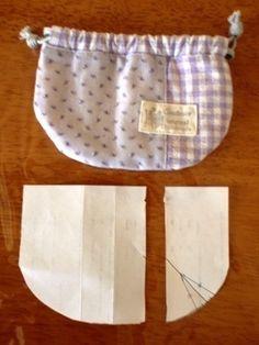 さっき、三等分したところをカットして、1センチの縫い代を付ければ、完成です。 写真が小さいので、拡大を押してくださいね。 別項目で作り方(縫い方)