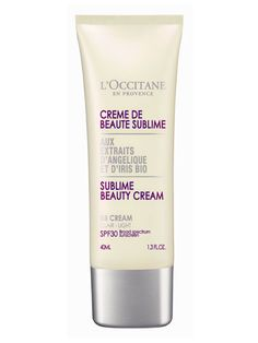 L'Occitane Angelica Iris Sublime Beauty Cream: Best BB Cream out there. SPF 30, non-greasy, smells nice, flawless coverage. Downside: Right now, it only comes in two shades; light and medium. :-( Come on, L'Occitane....