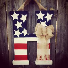 4th of July Personalized Letter  by SimpleMeKreations on Etsy, $45.00