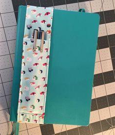 Penholder for notebook pattern