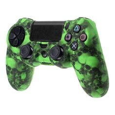 Green Skull controller silicon cover for controller. Choose your favorite design from a huge range of controller silicon covers collection for the controller. Xbox One Skin, Ps4 Skins, Ps4 Controller, Gaming Setup, Playstation, Console, Skull, Cover, Green