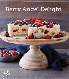 Pre-made angel food cake, combined with yogurt and berries, makes this impressive dessert so easy to make on the fly. Any combination of fresh berries will work well in this refreshing dessert--use what's on hand or, better yet, on sale!