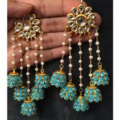 Latest Elegant Designer jewelry from India - Do you need the best quality garlands indian jewelry, gold plated indian jewelry and cheap indian jewelry online,. CLICK Visit link to see Indian Jewelry Earrings, Jewelry Design Earrings, Indian Wedding Jewelry, India Jewelry, Bridal Earrings, Fashion Earrings, Fashion Jewelry, Antique Jewellery Designs, Fancy Jewellery