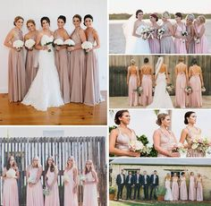 All our stunning sweet blush, blush pearl & soft dust me pink palettes in our Goddess By Nature signature dresses that's so popular & beautiful on our bridal parties 🌸💕💖 www.goddessbynature.com #wedding #bridesmaids #multiway #dresses