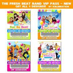 Fresh Beat Band  V I P Bithday Pass/Badge  FREE by iCelebration, $7.99