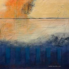 ^Karen Jacobs | Blue Barre | acrylic mixed media /sm