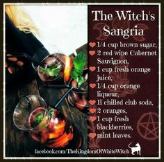 Witch's Sangria Recipe