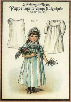 Vintage German Paper Doll Note Cards with Doll Clothes Patterns Enclosed (07/27/2012)