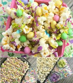 What fantastic looking popcorn to make For Easter or maybe for a party too, this bunny bait as it is called look so delicious that I just had to share it with you, really great for snacking on.. yummy