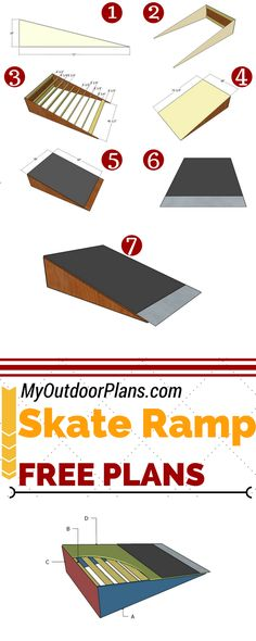 Build a simple skate ramp for fun in the backyard or in the park lot. Step by st. - Home Decorations Ideas Bmx Ramps, Skateboard Ramps, Scooter Ramps, Skateboard Party, Mini Skate, Skate Ramp, Diy Playground, Backyard Skatepark, Woodworking Plans