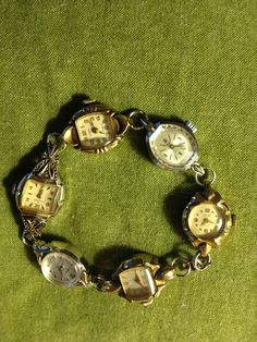 Just finished my first vintage watch braclet. The bag of old watches were a great fine at a neighborhood yard sale !made by R Nichols