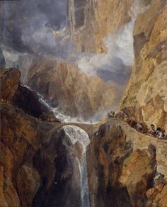 Joseph Mallord William Turner 'The Devil's Bridge, St Gothard', c.1803–4 © Private Collection, UK; Photo: Virginia Museum of Fine Arts, Richmond