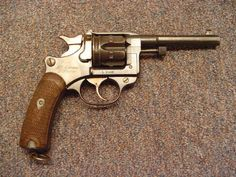 1892 Lebel revolver in 8mm. The Lebel was the standard side arm for french officers in ww1